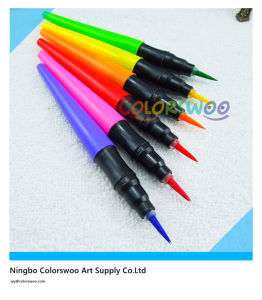 6pcss Fiber Brush Tip Water Color Pen for Kids and Students pictures & photos