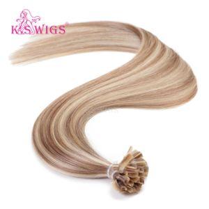 K. S Wigs European Virgin Remy Human Hair U-Tip Hair Extensions