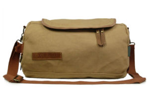 New Product Men Heavy Duty Cotton Canvas Shoulder Bag pictures & photos