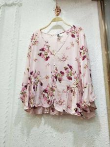 Polyester Fashion Casual Shirt Wholesale Lady Chiffon T Shirt Brand  Clothing Manufacturers in China
