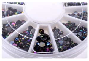 Cheapest Price Black Crystal Ab Stone, More Size Avaiable DIY Nail Decoration pictures & photos