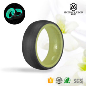Real Carbon Fiber Fashion Jewelry Sparkling Ring