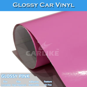 Glossy Pink Satin Color Change Vinyl Car Wrap Material