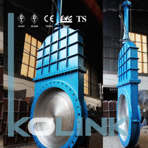 Fabricated Knife Gate Valve Bolted Bonnet for Larger Size