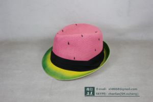 Trilby Paper Straw Hat (XH-PA2112)