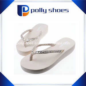 a41254734 China Womens Fashion Beach Rhinestone Wedge Heel Platform Flip Flops ...