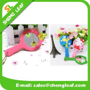 Custom 3D Logo Soft PVC Rubber Mirror (SLF-RM001)