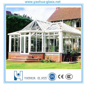 Tempered Clear Glass Laminated/Toughened Decorative Glass for Sunroom and Green House