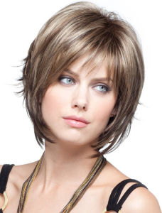 28460dd6b009d2 China Women Nice Short Natural Straight Wig Stylish Lady Blonde Synthetic  Hair Wigs - China Wig, Synthetic Wig