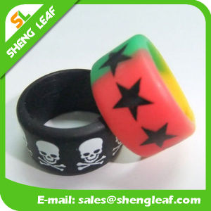 Personalized Fashion Advertising Colorful Silicone Finger Rings (SLF-SR016)
