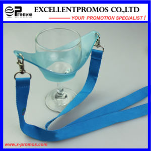 Promotional Heat Transfer Printed Custom Wine Glass Holder Lanyard (EP-Y581407) pictures & photos