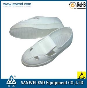 Electronic Factory Cleanroom ESD PU Leather Shoes (3W-9105) pictures & photos
