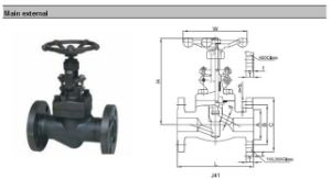 High Pressure High Temperature Forged Steel Globe Valve pictures & photos