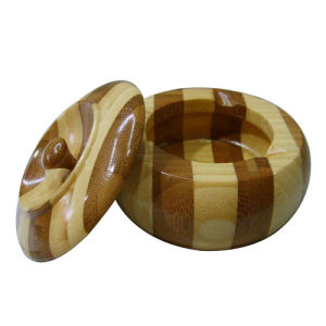 Hot Selling Durable Wooden Circular Ashtray pictures & photos