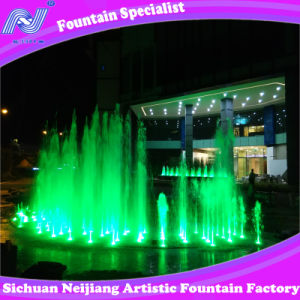 Music Dancing Fountain Within Colorful Light Program Control in Lake