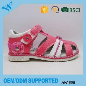 117abfabc384 China Beautiful PU Leather Kids Shoes Girls Sandals Fancy Close Toe ...
