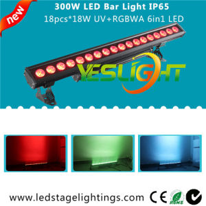 UV LED Bar Light 18PCS*18W RGBWA+UV 6in1 CREE LEDs with, Ce, RoHS, UL