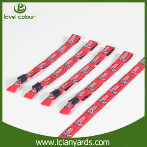 Promotion One-Time RFID Festival Jacquard Woven Wristbands Bracelet
