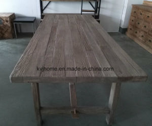 China French Style Seat Reclaimed Wood Farm Dining Table AF - Reclaimed wood dining table seats 10