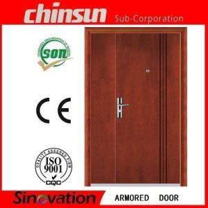 Double Steel Wooden Armored Door pictures & photos