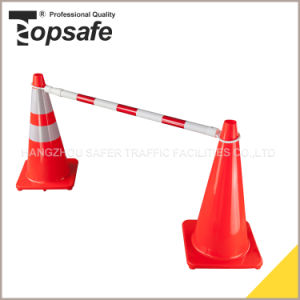 Red/White Color Single Side Extendable Cone Bar (S-1481B)