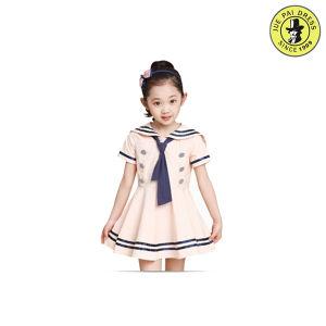 Colored Customized Girl Summer School Dress Uniform Supplier