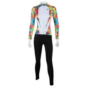 ec7262ba4 Cycling Clothing Sets Suits Women′s Long Sleeve Suit for Outdoor Sport  Jersey Full