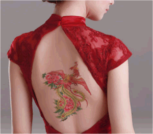 Fashionable Phoenix Temporary Tattoo Sticker Art Tattoo Sticker