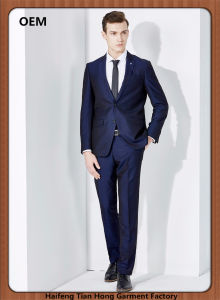 China New Style Two Button Business Coat Pant Men Suits China Suit