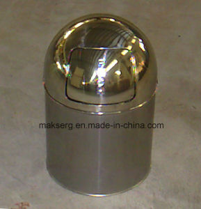 Deep Drawn Stainless Steel Garbage Bin Trash Can 15L Open Top pictures & photos