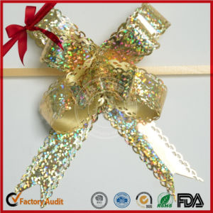 Metallic Craft Gold Strict Quality Control Butterfly Pull Bow pictures & photos