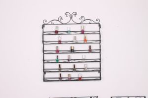 Metal Material Nail Polish Rack for Your Shop and Store