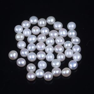 5mm 6mm Half Drilled Loose Button Freshwater Pearl pictures & photos