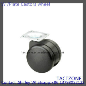 PRO Hot Wholesale Nylon Black Plate Caster Wheel for Furiture pictures & photos