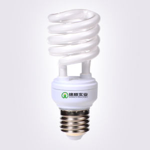 23W Half Spiral Energy Saving Lamp T4 E27 6400k pictures & photos