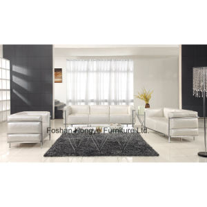 Modern Living Room Furniture Leather/Fabric Sofa (T011C)