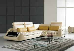 Corner Leather Sofa (733)