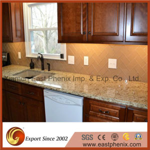 Hot Sale Yellow Granite for Prefab Finished Kitchen Countertop