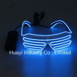8caa8463a2e Electroluminescent Sound Activated Flashing Slotted Sunglasses Shutter  Shades