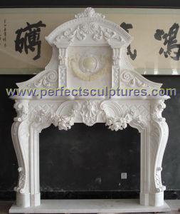 Fireplace with Stone Marble Sandstone Limestone Granite (QY-LS387) pictures & photos