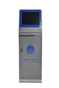 2017 Newest Police Worn Camera Information Collection Docking Station with 19 Inch Screen