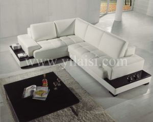 Corner Leather Sofa (T71)