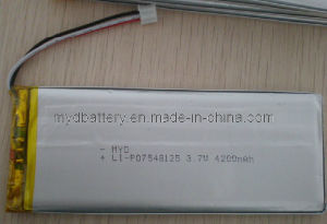 Polymer Battery, 3.7V, 7845125, 4200mAh with CE, SGS