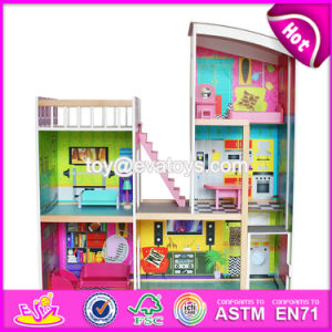 Best Gift Set Luxurious Wooden Kids Doll House with Furniture W06A246 pictures & photos