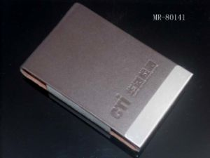 Metal Leather Business Card Holder