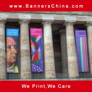 Outdoor Advertising Hanging Flag Banner pictures & photos