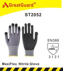 Micro Foam Nitrile Coated Glove (ST2051) pictures & photos
