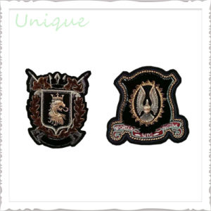 Factory Wholesale Custom Logo 3D Textile Embroidery  Shoulder  Patch for Military Police Uniform