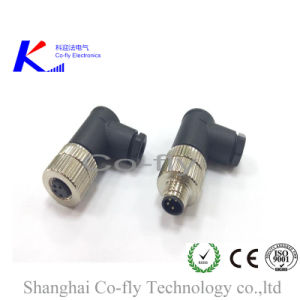 M8 Right Angle, 4 Pins Moldded, Female, Circular Aviation Plug, Connector pictures & photos