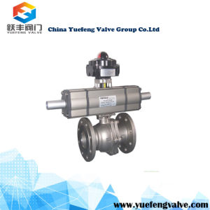 Pneumatic Control Floating Ball Valve with Positioner pictures & photos